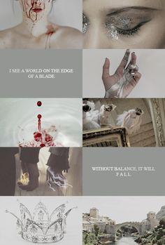 I see a world on the edge of a blade, without balance, it will fall - Cal Calore / Eu vejo o mundo à beira de uma lâmina, sem equilibro ele vai cair - Red Queen (Victoria Aveyard)