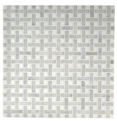 Basket weave  Mosaic — bathroom floor?