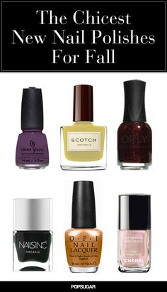 12 Moody New Nail Polish Shades You'll Wear All Fall