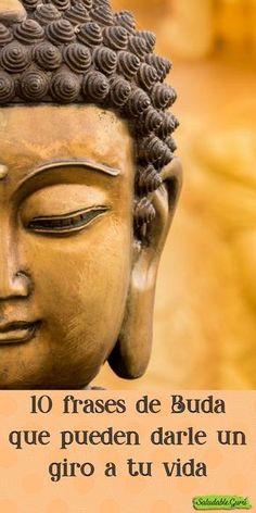 10 frases de Buda que pueden darle un giro a tu vida. #saludable #salud #SaludableGuru #buda #espiritualidad #enseñanza #amor #pdio #buenasintenciones #vivir #vida #morir #muerte #sanar #palabra #camino #religioso #religion #SaludableGuru Buda Zen, Brain Trainer, Spiritual Messages, Magic Words, Dalai Lama, Life Motivation, Good Thoughts, Reiki, Feng Shui
