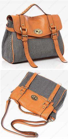 Kate Striped Messenger Bag <3