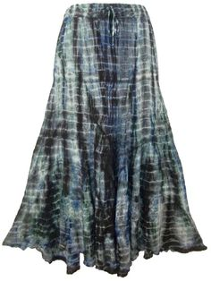 Green/Black Tie Dye Skirt - $39 Sizes: 14-34 #plussize #curvaceouscouture www.curvaceouscouture.com.au