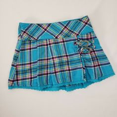 Justice Mini Skirt Girls Sz 7 Blue Teal Plaid with Shorts Kilt Style Buckles Girls Yellow Shirt, Yellow Shirts, Dance Outfits, Girl Outfits, Girls In Mini Skirts, Tie Dye Sweatshirt, Pleated Mini Skirt, Sleeveless Tunic, Girls Jeans