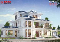 House Outside Design, House Gate Design, Bungalow House Design, Villa Design, Town House Floor Plan, House Plans Mansion, Sims House Plans, Beautiful House Plans, Beautiful Houses Interior
