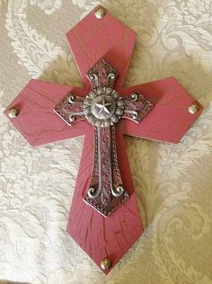 Western Style Cross Decor by TheCrossedCupcake on Etsy, $20.00