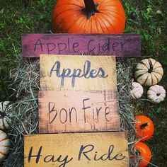 FALL DECOR from A RUSTIC FEELING ! 🍂🍁 We LOVE FALL COLORS, FALL WREATHS, HAY RIDES, PUMPKINS and APPLES! Stop by our #ETSY shop to see our HANDCRAFTED FARMHOUSE SIGNS, WREATHS and STONE COASTERS. 🍂🍁 #arusticfeeling #fall #falldecor #woodsigns #wreath Country Fall Decor, Rustic Fall Decor, Fall Home Decor, Rustic Coasters, Stone Coasters, Fall Wood Signs, Fall Signs, Farmhouse Kitchen Signs, Farmhouse Decor