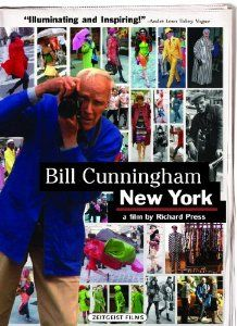 Bill Cunningham New York documentary. I loved so many things about this documentary.  Amazing peek into the life of a ubiquitous yet enigmatic NY figure. Filmed with so much care and respect.