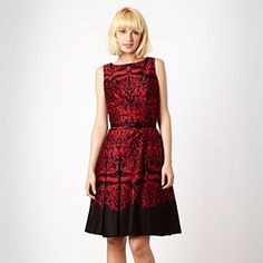 Jonathan Saunders/EDITION Designer dark red brocade dress - Evening & party dresses - Dresses - Women - Debenhams Mobile