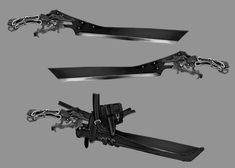 Steampunk Weapons, Zombie Weapons, Ninja Weapons, Anime Weapons, Sci Fi Weapons, Weapon Concept Art, Fantasy Armor, Fantasy Weapons, Fantasy Inspiration