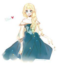 Elsa in her summer dress (1)