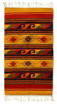 Zapotec wool rug, 'Morning Stars' (2x3.5) by NOVICA $75.00