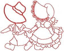 Sunbonnet Friends - Free Instant Machine Embroidery Designs