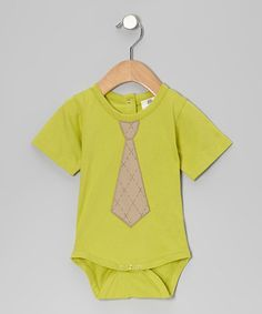 Take a look at this Dill Argyle Tie Organic Bodysuit - Infant by Kate Quinn Organics on #zulily today!