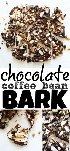 Low carb and gluten free Chocolate Coffee Bean Bark!! It's dairy free and completely addicting!!