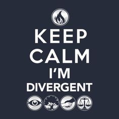 Keep calm i'm divergent Seriously, really think I might be