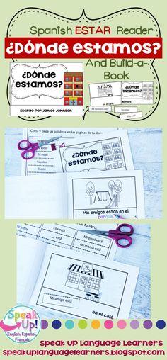 ¿Dónde estamos? Spanish Verb Estar Town Reader & Build-A-Book ~ la comunidad