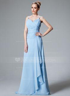 Bridesmaid Dresses - $119.99 - A-Line/Princess V-neck Floor-Length Chiffon Bridesmaid Dress With Ruffle Beading (007001116) http://jenjenhouse.com/A-Line-Princess-V-Neck-Floor-Length-Chiffon-Bridesmaid-Dress-With-Ruffle-Beading-007001116-g1116?ver=1