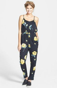 Volcom 'Flux' Print Camisole Jumpsuit available at #Nordstrom