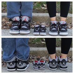 Baby announcement with matching Jordan shoes.