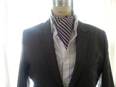 Silk Striped Ascot - Handcrafted - Custom Designed by HandsomeJimmy on Etsy