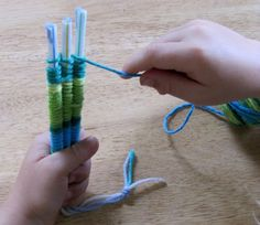 Weaving with straws