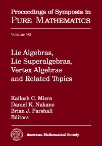 Lie algebras, lie superalgebras, vertex algebras, and related topics. Kailash C. Misra, Daniel K. Nakano, Brian J. Parshall, editors. 2016. Máis información: http://bookstore.ams.org/pspum-92
