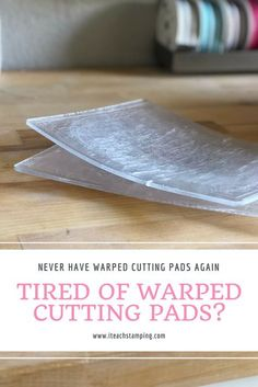 Cutting Pads - Stop the Warping Tired of your Big Shot embossing pads warping? Watch this video and learn my favorite tips!Tired of your Big Shot embossing pads warping? Watch this video and learn my favorite tips! Card Making Tips, Card Making Tutorials, Card Making Techniques, Making Ideas, Craft Making, Card Tricks, Embossing Techniques, Rubber Stamping Techniques, Distress Ink Techniques