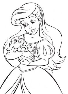 Ariels Daughter Coloring Page Princess Ariel Pinterest