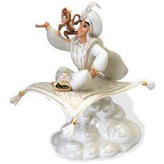 lenox disney figurines   Lenox Disney Aladdin Abu Magic Carpet Figurine NIB COA - Polyvore