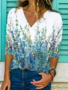 Tshirts Online, Graffiti, Long Sleeve Shirts, Women's Casual, Casual Fall, Sleeves, Color, Floral Style, Floral Tops