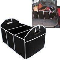 Home | Car Trunk Organizer Car Toys Food Storage Container Bags Box Auto Interior Accessories (Color: Black)