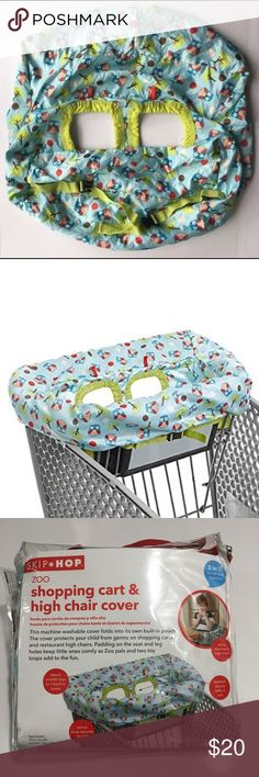 Skip Hop Zoo Shopping Cart&High Chair Cover Cute Cover when u are out with your Toddler shopping or dining Skip Hop Accessories