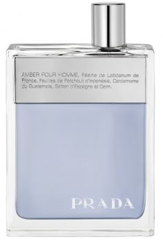 Prada Amber Pour Homme (Prada Man) Prada for men  saffron, myrrh, vanilla, musk, leather, labdanum, geranium, orange blossom, neroli, tonka bean, vetiver, sandalwood, cardamom, patchouli, bergamot, orange