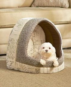 Luxury Vintage Pet Bed gives your pet a cozy napping spot.