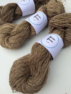 Nettle yarn, organic nettle yarn, handspun yarn, fiber arts and crafts, knitting, exfoliating pads, crochet, weaving , basketry and more. by Yarnyarnyarns on Etsy