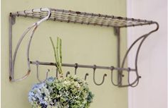 Wire Shelf with Coat Hooks... AMAZING price!~Enjoy Today's Steal from DECOR STEALS