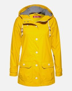 Clogs Shoes, Rain Wear, Must Haves, Rain Jacket, Windbreaker, Raincoat, Yellow, My Style, Tops