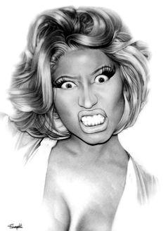 Pink Friday - Nicki Minaj by on DeviantArt Beats By, 2pac, Nicki Minaj Fotos, Nicki Minja, Nicki Minaj Drawing, Nicki Minaj Pink Friday, Beautiful Pencil Drawings, Evans Art, Face Sketch