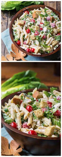 Caesar Pasta Salad ~ Eat to death