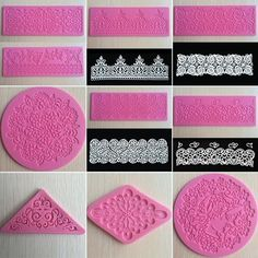 Lace Silicone Mold Mould Sugar Craft Fondant Mat Cake Decorating Baking Tool #UnbrandedGeneric