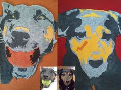 If you are a pet lover or know someone who is this is a great gift! DIY pet portrait made from upcycled t-shirts.