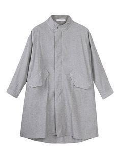 Casual Zipper Pockets Pure Color Long Sleeve Coat For Women - Gchoic.com
