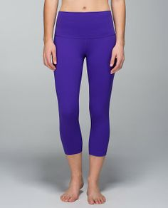 Lululemon Roll Down Wunder Under Crop Bruised Berry Size 6 $82