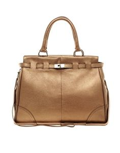 Ri2K Leather Structured Tote Bag