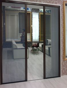 Screen doors screens and french door screens on pinterest for Mesh for windows and doors