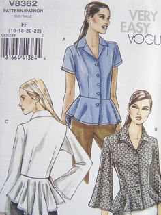 Vogue V8362 Easy Sewing Pattern  Very Easy Vogue by WitsEndDesign, $10.00