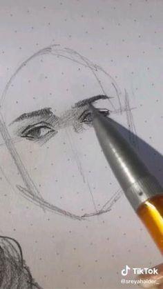 Amazing Drawings, Art Drawings Sketches Simple, Human Anatomy Art, Sketches Tutorial, Art Tutorials, Tips, Face Drawings, Drawing Practice, Drawing Poses