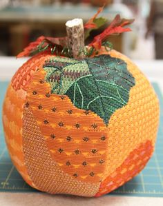 Great finishing on a Pumpkin with Ruth Chow Stitch Guide