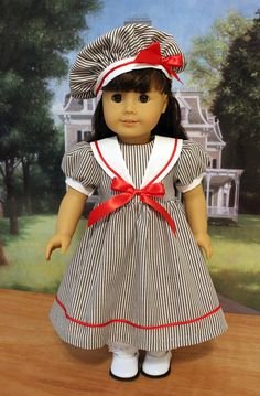 CLEARANCE SALE Sailor Style Dress and Hat for 18 by BabiesArtUs, $30.00