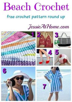 Beach Crochet free crochet pattern round up from Jessie At Home